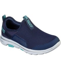 zapatos mujer  go walk 5 - sovereign azul skechers