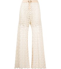 zeus+dione layered crochet trousers - neutrals