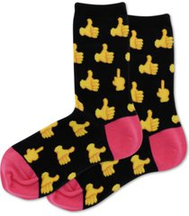 hot sox women's thumbs up crew socks