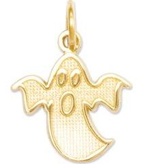 14k gold charm, ghost charm