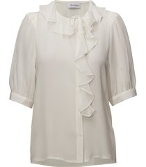 xilla silk blouses short-sleeved wit rodebjer