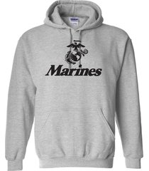 marine corps anchor eagle u.s. united states marines usmc military men's hoodie