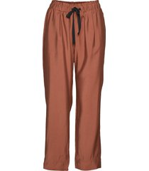 breeze hw trousers wijde broek oranje second female