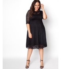 kiyonna women's plus size lacey cocktail dress