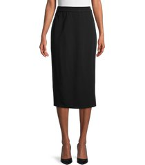 eileen fisher women's long pencil skirt - black - size xxs