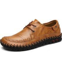 stitching uomo stile britannico round toe merletti mocassini casual flat