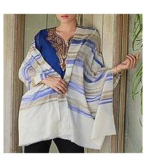 cashmere shawl, 'purple horizon' (india)
