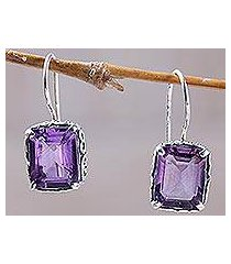 amethyst drop earrings, 'imagine' (indonesia)