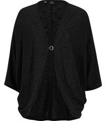 cardigan in cotone leggero (nero) - bpc bonprix collection