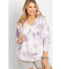maurices plus size womens purple tie dye pullover hoodie