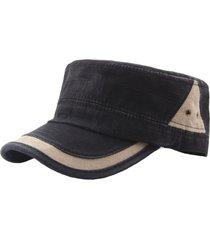 cappello casual parasole per esterno con cappuccio piatto traspirante colore classico lavato in cotone