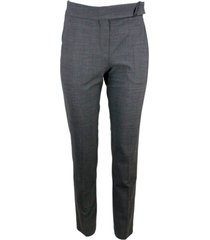 brunello cucinelli cigarette trousers with jewels at the waist