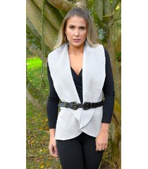 chaleco outfit 3102 para mujer gris