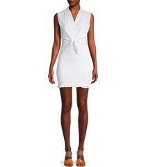 jack by bb dakota women's smock broker dress - optic white - size xs