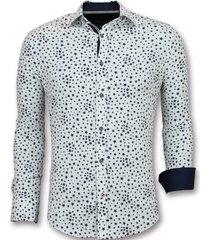 overhemden regular fit bloemen blouse mannen 3007