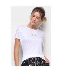 camiseta colcci alongada feminina