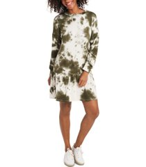 1.state cotton tie-dye french terry dress