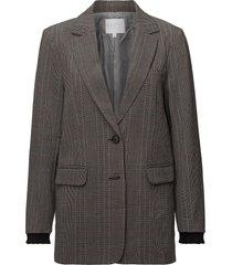 suit jacket in check fabric w. lure blazer kavaj brun coster copenhagen