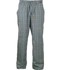 schiesser pyjamabroek ruitje blue