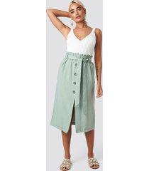 trendyol binding detail midi skirt - green