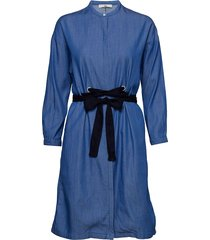 eyelet dress jurk knielengte blauw lee jeans