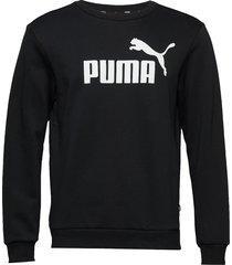 ess logo crew sweat fl big logo sweat-shirt tröja svart puma