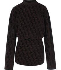 jacquard logo blouse