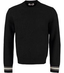 alexander mcqueen wool crew-neck pullover