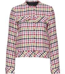 houndstooth boucle jacket blazer kavaj multi/mönstrad karl lagerfeld