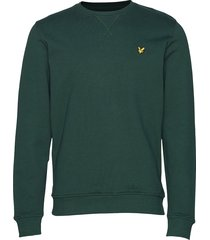 crew neck sweatshirt sweat-shirt trui groen lyle & scott