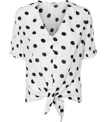 blouse geknoopt detail polka dot