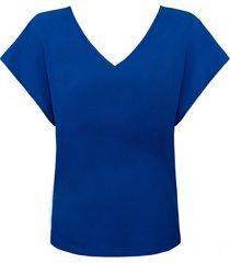 t-shirt basic szafirowy