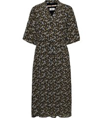 dress short sleeve knälång klänning svart noa noa