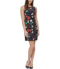 tommy hilfiger collage floral-print sheath dress