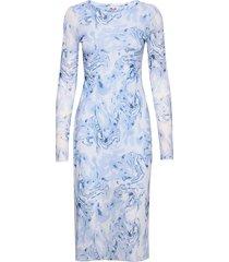 jolanda jurk knielengte blauw baum und pferdgarten