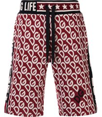 dolce & gabbana logo embroidered bermuda shorts