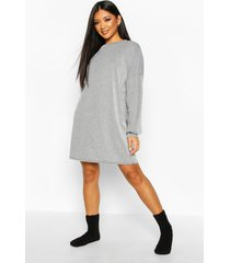 acid wash rib oversized lounge dress