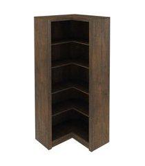 armário canto rustico tecno mobili marrom