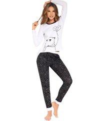 pijama camiseta manga larga y pantalón largo fi pijamas