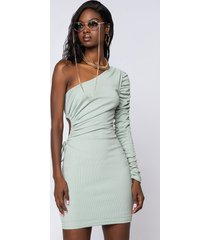 akira mint your business one sleeve mini dress