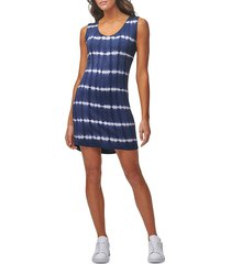 marc new york performance women's tie-dyed a-line dress - midnight - size xl