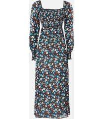 rixo women's marie midi dress - retro micro floral - l