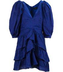 isabel marant blue ramie dress