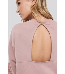 na-kd trend cut out oversized sweatshirt - pink