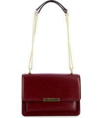 michael kors dark berry large gusset shoulder bag