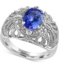 tanzanite royale by effy tanzanite (1-3/4 ct. t.w.) and diamond (1/3 ct. t.w.) ring in 14k white gold