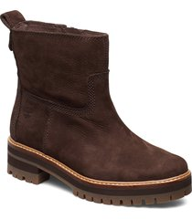 courmayeur valley fauxfur shoes boots ankle boots ankle boots flat heel brun timberland
