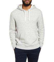 men's vince regular fit french terry hoodie, size xx-large - grey