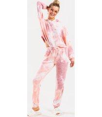 brenn tie-dye joggers - blush