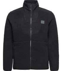 ua legacy sherpa swacket sweat-shirts & hoodies fleeces & midlayers svart under armour